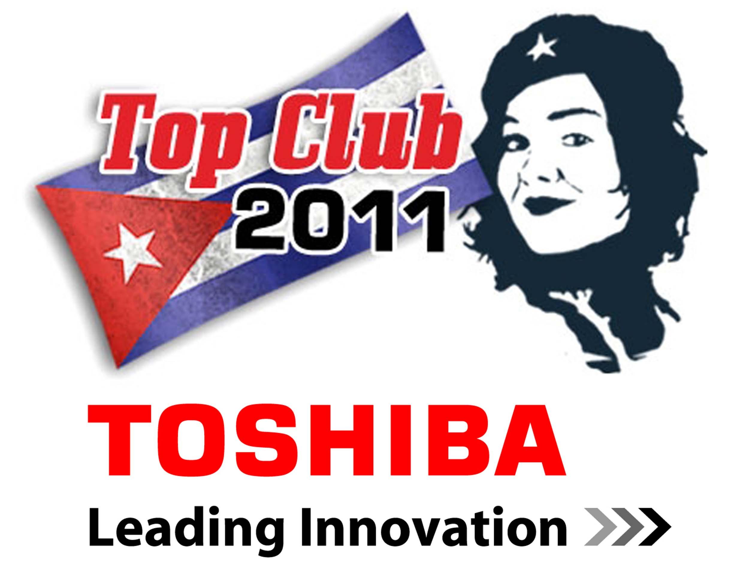 communication visuelle et production audiovisuelle, logo, événement, cuba, toshiba, création de logo
