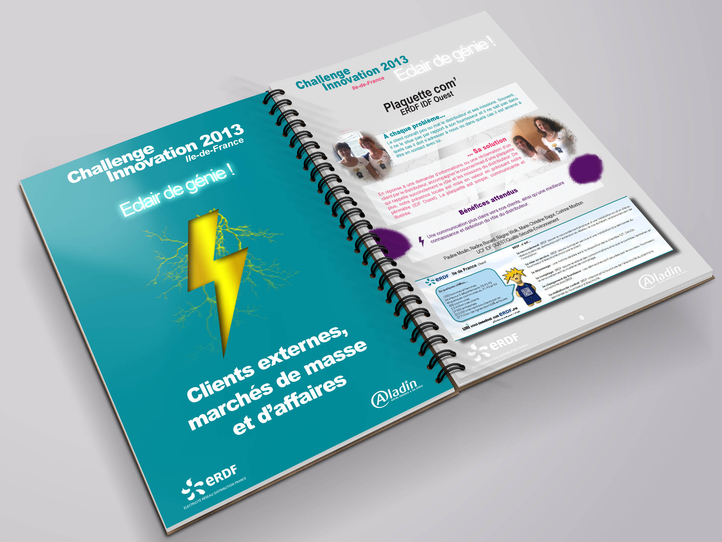 communication visuelle et production audiovisuelle, erdf, book, graphisme, conception, plaquettes - brochures, 2CO Image